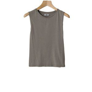 Acne Shirred Back Stretch Cotton Muscle Tank Top